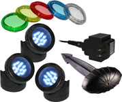 3-Pack LED Pond Lights