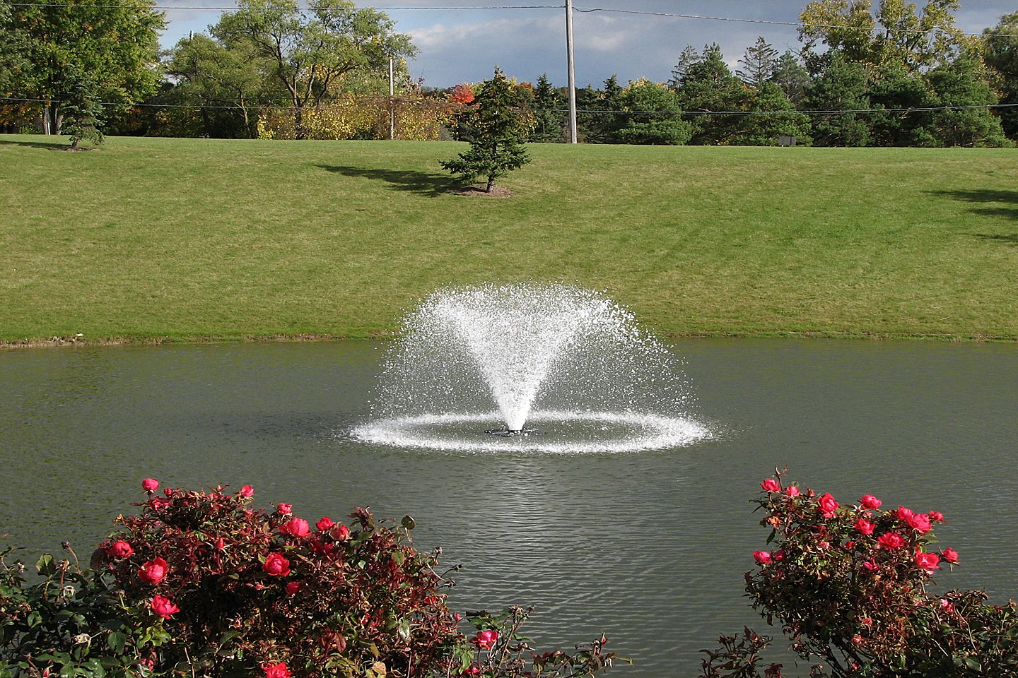 North Star Decorative Pond Aerator at a church